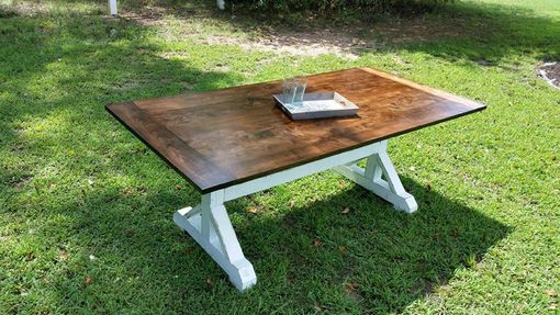 Custom Made Oxford Trestle Farmhouse Dining Room Table