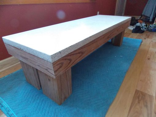 Custom Made Concrete Coffee Table