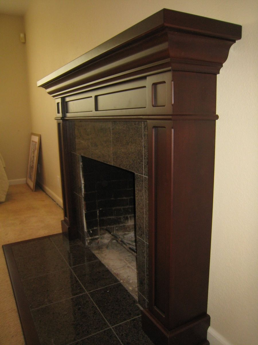 hand made cherry fireplace mantel by michael meyer fine