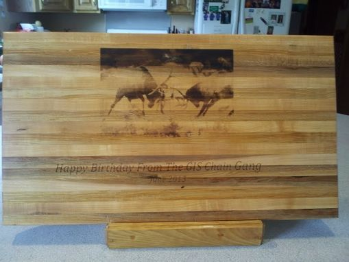 Custom Made Personalized Cutting Board - Engraved With Your Photo
