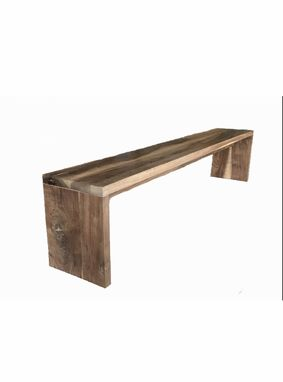 Custom Made Handcrafted Modern Walnut Plank Bench For An Accent Piece Or Dining Table