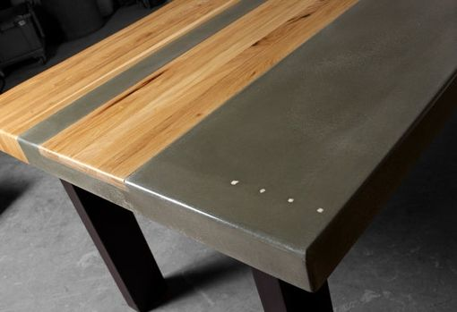 Hand Made Concrete Wood Amp Steel Dining Kitchen Table By