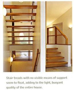 Custom Made Floating Stairway