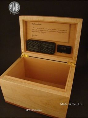 Custom Made 150 Cigar Custom Humidor Of Figured Maple And Bubinga.