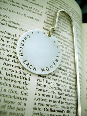 Custom Made Personalized Hand Stamped Bookmark