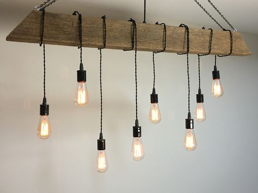 Buy A Custom Reclaimed Barn Beam Light Fixture Bar