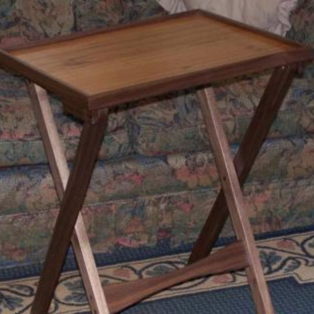 Hand Made Solid Hardwood Tv Tray Tables With A Lip By Smoky Mountain Woodworks Custommade