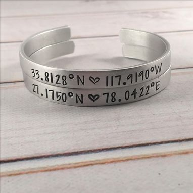 Custom Made Custom Stamped Cuff Bracelet - 1/4