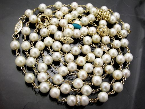 Custom Made Custom Pearl Necklace With Gold