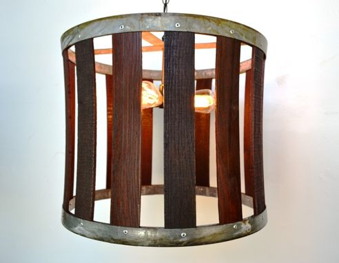 Custom Made Craftsman - Drum - Barrel Stave Chandelier