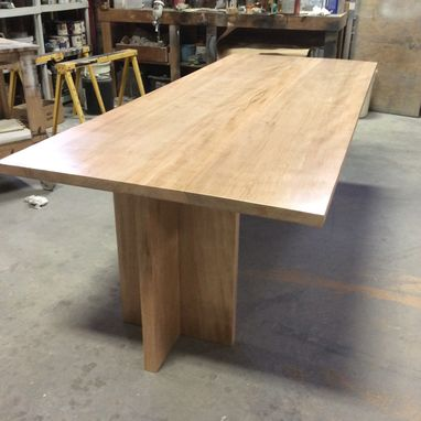 Custom Made Modern Dining, Tiger Maple, 8 Feet Long, Ready To Deliver