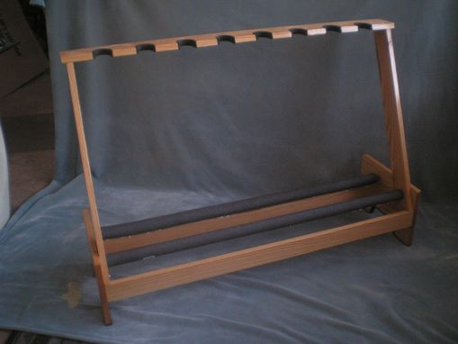 Custom Made 8 Space Electric Or Acoustic Guitar Stand