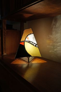 Custom Made Glass Art Lamp #17