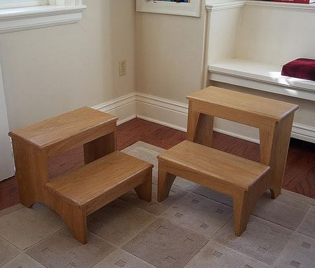 Custom Made A Pair Of Shaker Styled Step Stools In Ash