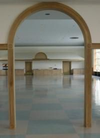 Custom Made White Oak Half-Round Arched Passageway
