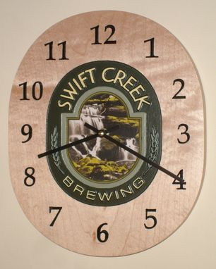 Custom Made Home Brew Logo Clock