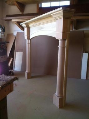 Custom Made Fireplace Mantel W/ Columns