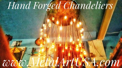 Custom Made Hand Forged Bronze Chandelier