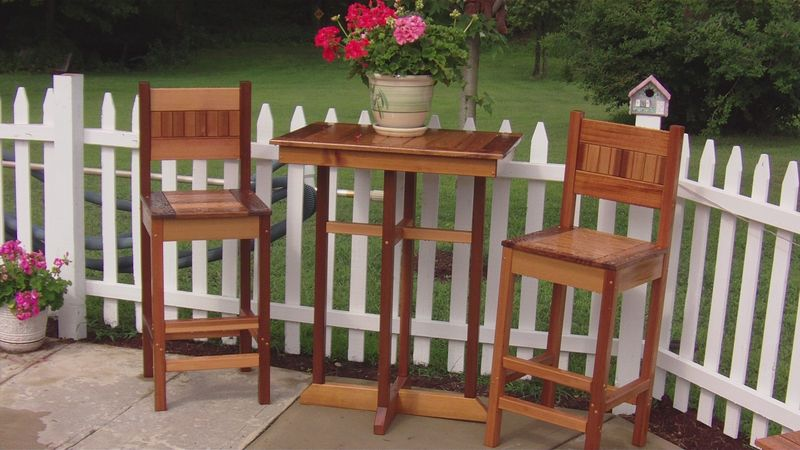 Custom Outdoor Bar Table And Chairs By Bald Mountain Builders Custommade
