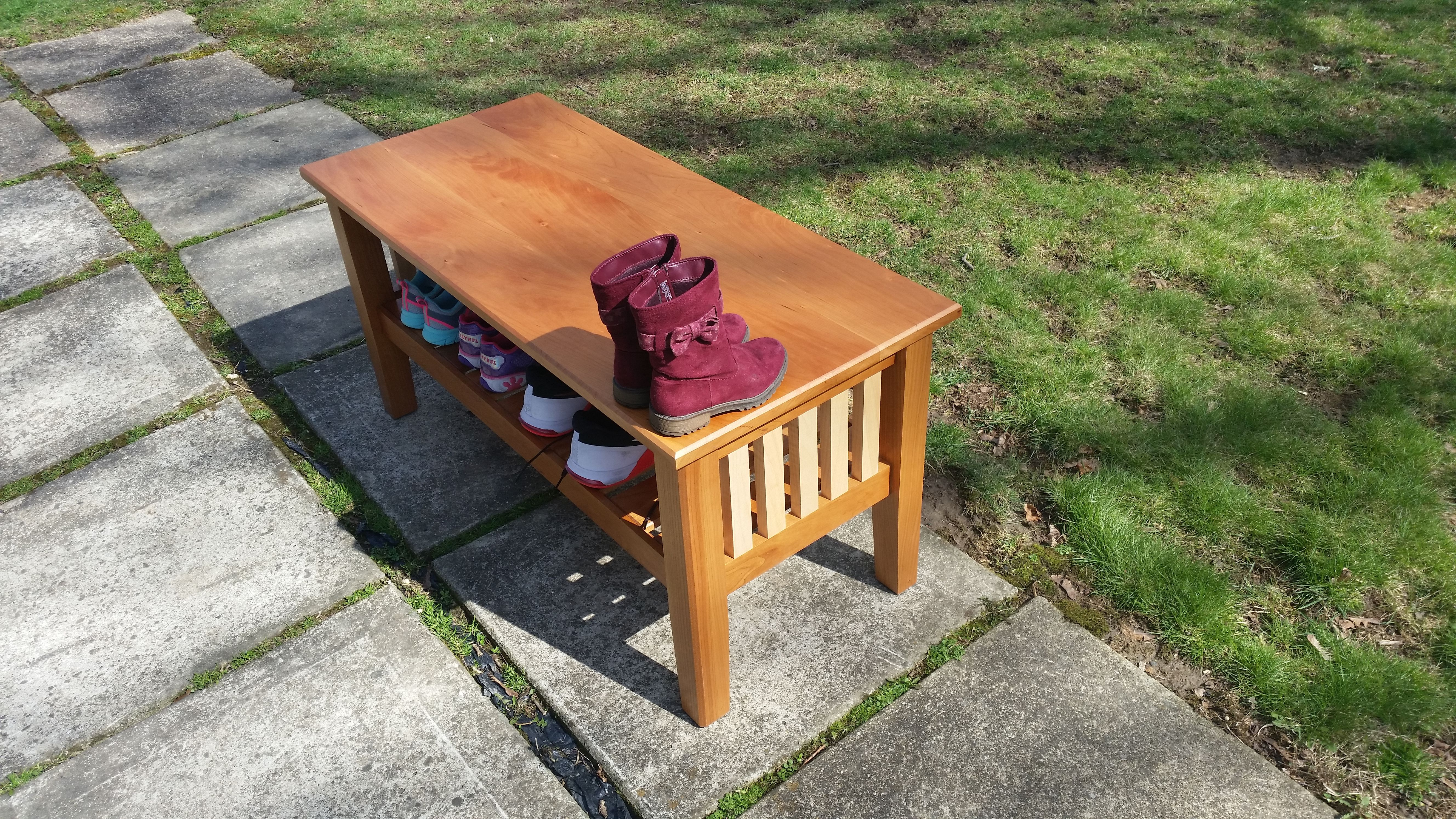 Tremendous Hand Made Entryway Shoe Storage Bench By Sunrise Woodshop Pdpeps Interior Chair Design Pdpepsorg
