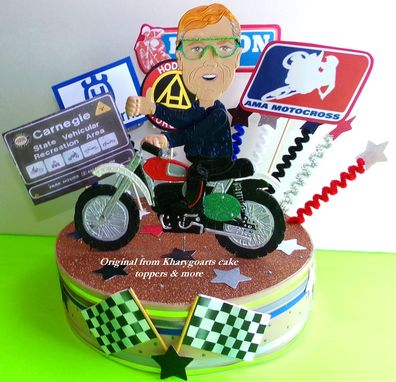 Hand Crafted Motorcycle Cake Topper Unique Gifts For Men Dirt