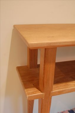 Custom Made Long Cherry End Table