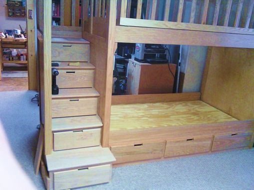 Custom Made Stairway Bunk Beds With Underbed Storage