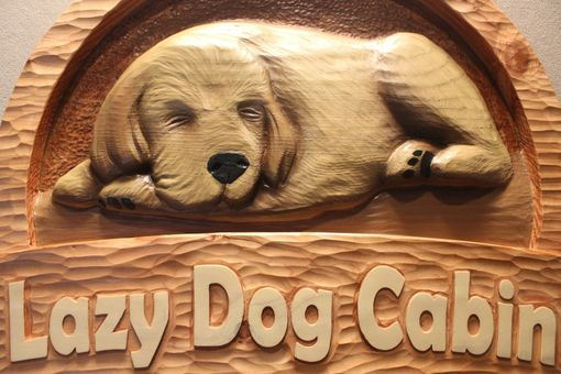 Custom Made Custom Carved Dog Signs, Dog Furniture, Dog Memorials, Pet Signs, Cat Signs By Lazy River Studio