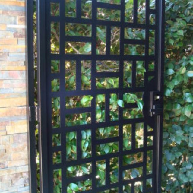 Custom gates and fences custommade state of the art metal gate walk thru front yard modern design on sale factory direct workwithnaturefo
