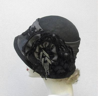 Custom Made Couture Vintage Style Cloche Women's Hat