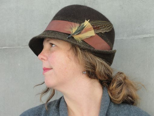 ... Custom Made Women s Wool Felt Bowler Derby Hat-Custom Design Ladies Hat- Custom 40ffa4c35657