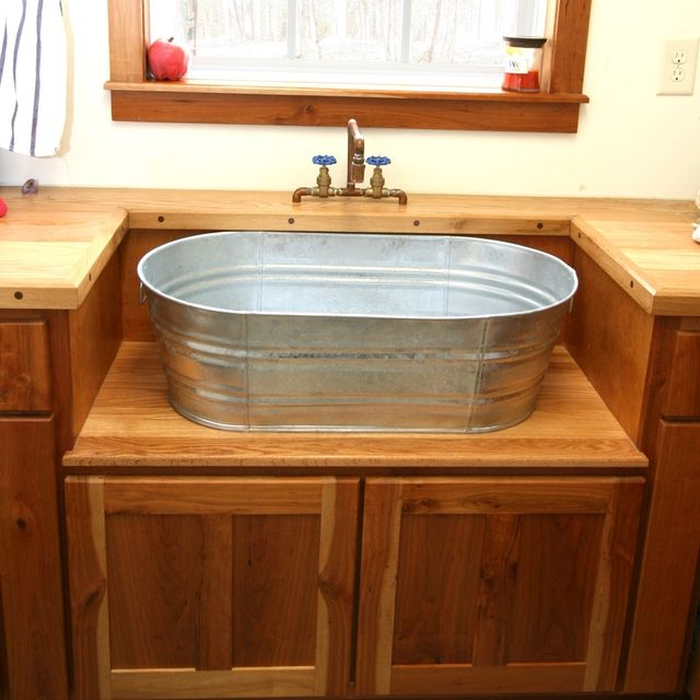 Hand Crafted Rustic Laundry Sink And Cabinet By Moss Farm Designs Custommade