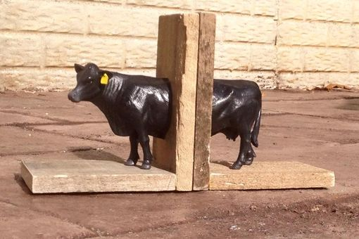 Custom Made Reclaimed Wood Farm Animal Bookends - Free Shipping!