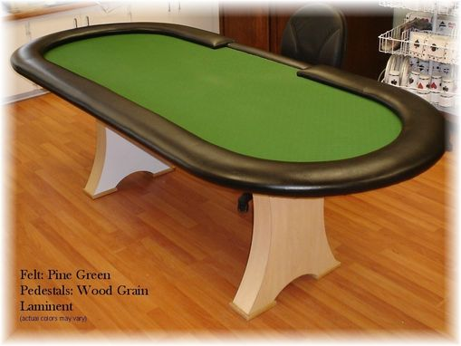 Custom Made Oval Poker Table
