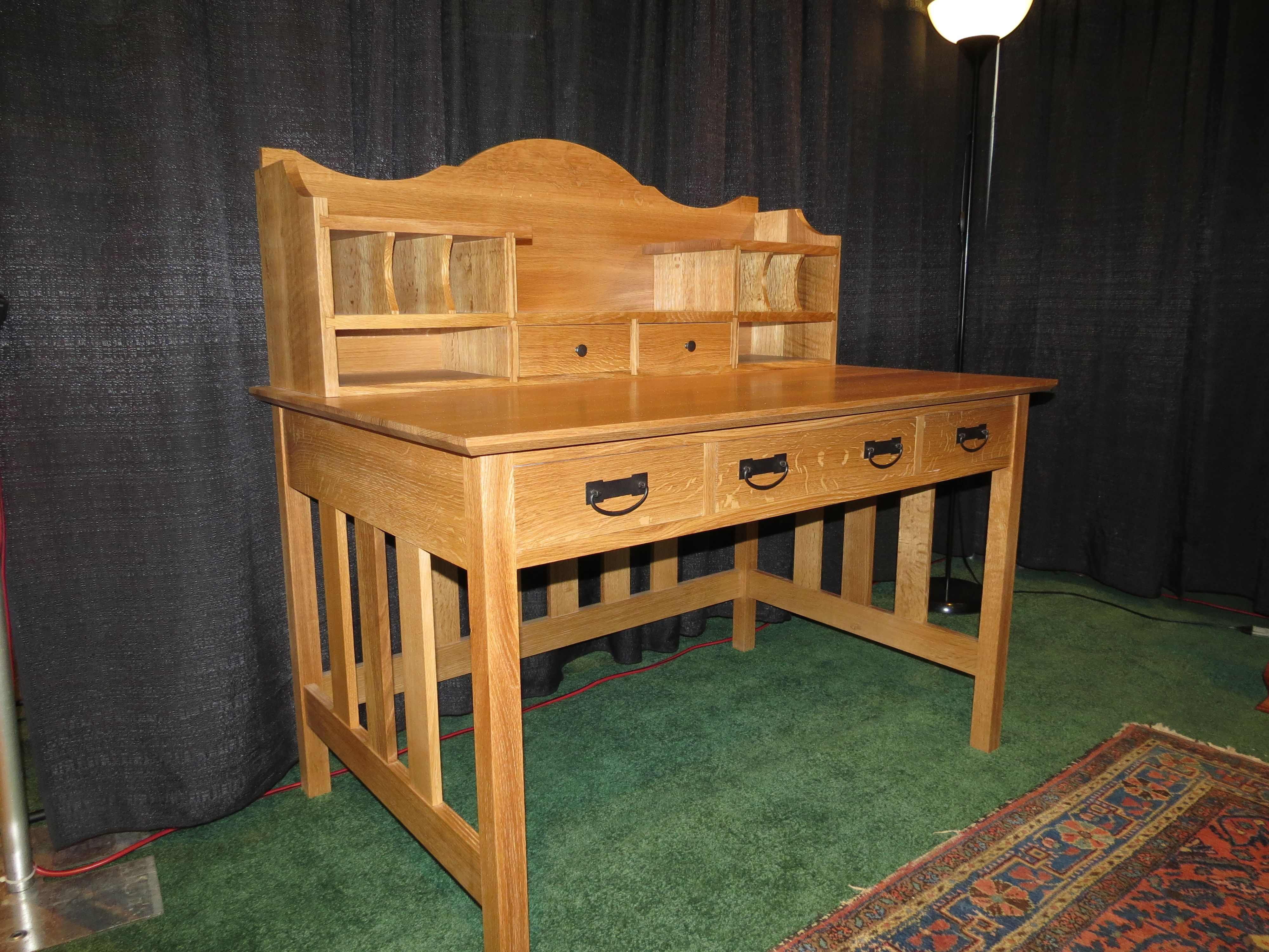 Handmade Mission Writing Desk By The Hillger Furniture Company Custommade Com