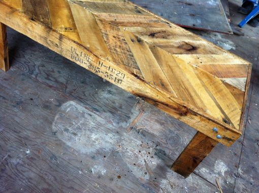 Custom Made Gorgeous Reclaimed Chevron Coffee Table