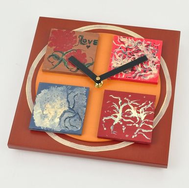 Custom Made Contemporary Wall Clock - Ready To Ship - Flower Inspired Square Clock - Cindy And Me 3