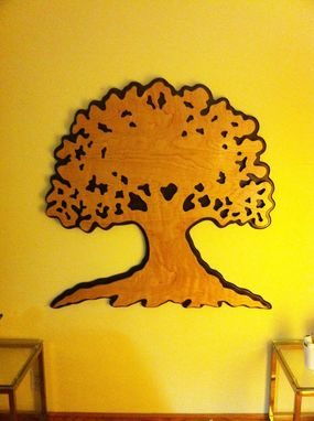 Custom Made Shipman Tree Service Layered Oak Tree Silhouette