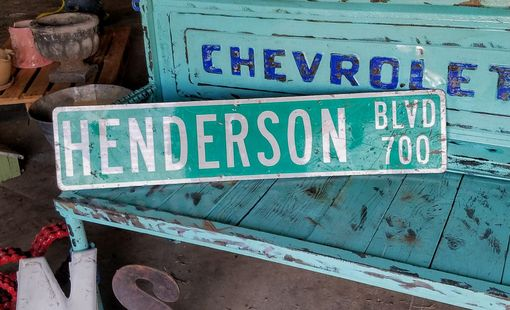 Custom Made Henderson Blvd Street Sign Bar Game Room Decor