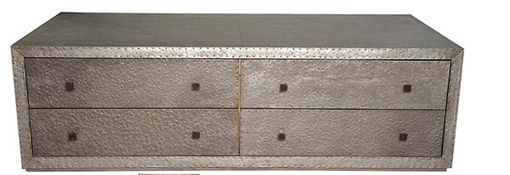 Custom Made George Zinc 6 Drawer Coffee Table