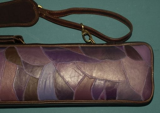 Custom Made Purple Hairstreak Leather Poolstick Case