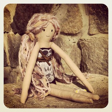 Custom Made Rag Doll With Vintage Dress