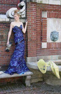 Custom Made Butterfly Textured Evening Gown