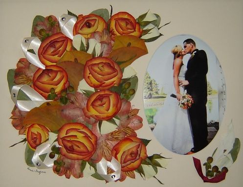 Custom Made Floral Preservation ~ Bridal Flowers With Wedding Photograph!