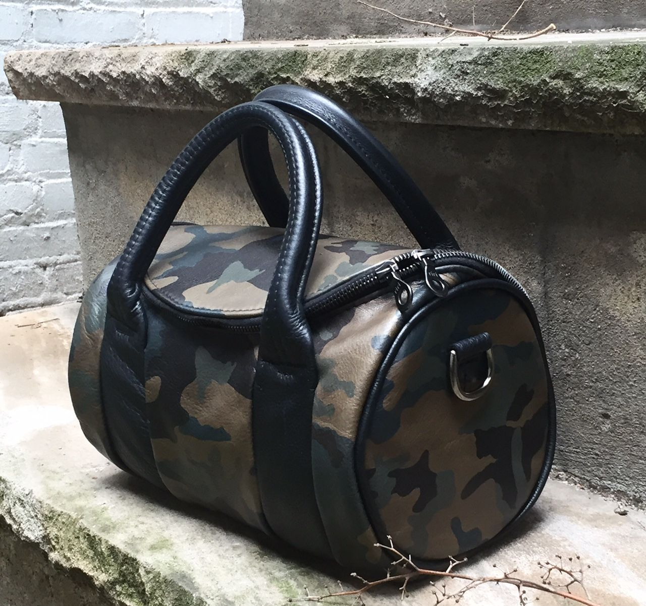 4d100afd65 Custom Made Round Leather Barrel Bag In Your Choice Of Leathers -  Handcrafted In New York