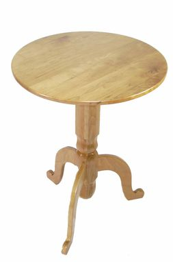 Custom Made Florida Wild Cherry Round Bistro Table