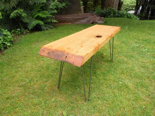 Custom Made Old Growth Slab Bench