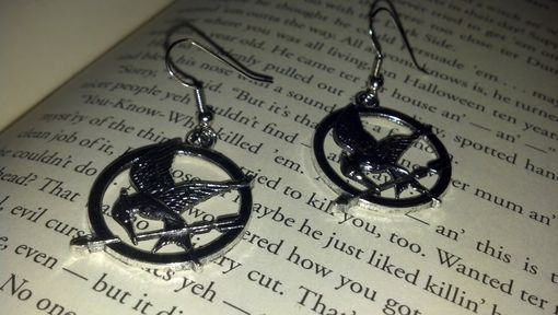 Custom Made Sale Hunger Games Inspired Mockingjay Earrings, Ready To Ship, Valentine's Sale