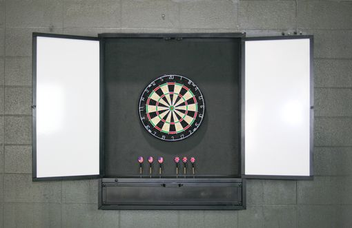 Custom Made Industrial Dartboard Cabinet/ Wall Cabinet. Reclaimed Wood Options Available.