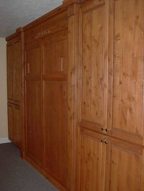 Custom Made Alder Murphy Bed And Storage